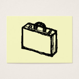 Case Sketch. Black and Cream. Suitcase, Briefcase Business Card
