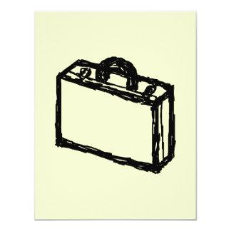Case Sketch. Black and Cream. Suitcase, Briefcase Card