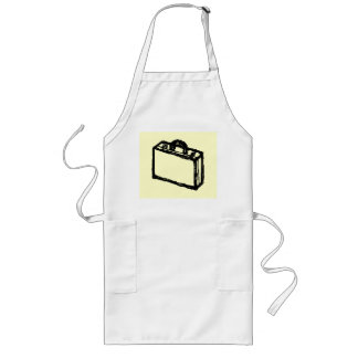 Case Sketch. Black and Cream. Suitcase, Briefcase Long Apron