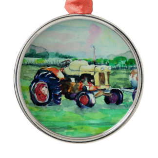 Case Tractor Metal Ornament