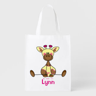 Case with own name - lief litte monkey - little grocery bag
