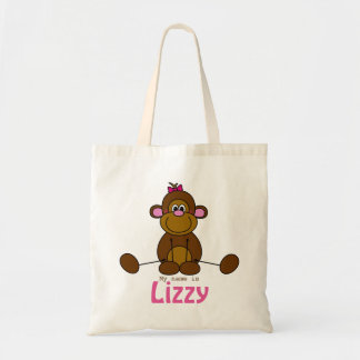 Case with own name - lief litte monkey - little tote bag