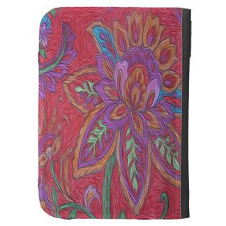 Caseable enciende la flor roja en folio