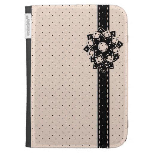 Caseable Kindle Folio Polka Dot and Flowers Cases For Kindle