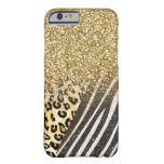 caseAwesome girly trendy gold leopard and zebra pr iPhone 6 Case