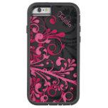 caseBold Hot Pink Black Elegant Floralcase iPhone 6 Case
