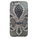caseCRYSTAL FLEUR DE LIS ON LEATHER LOOK PRINTcase iPhone 6 Case