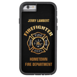 caseFire Department Gold Name Templatecase iPhone 6 Case