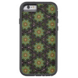 caseFloral Fractal Abstract Pattern in Black and G iPhone 6 Case
