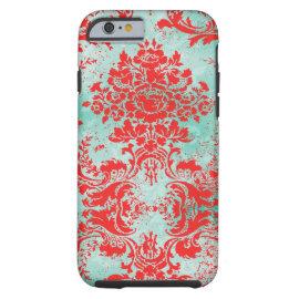 caseGC Vintage Turquoise Red Damask Case Matecase iPhone 6 Case