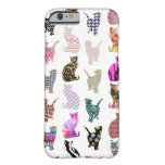 caseGirly Whimsical Cats aztec floral stripes patt iPhone 6 Case
