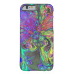 caseGlowing Burst of Color – Teal & Violet Devacas iPhone 6 Case