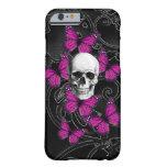 caseGothic skull & purple butterfliescase iPhone 6 Case