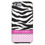 caseiPhone 6 casePink Polka Dot Zebra StripeiPhone iPhone 6 Case