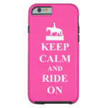 caseKeep calm and ride on, pinkcase iPhone 6 Case