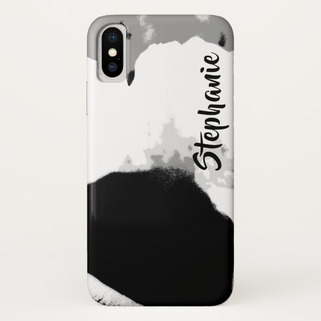 Casemate Black and White Modern iPhone XS Max XR