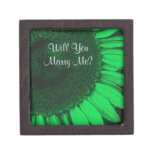 Cáseme caja de regalo floral del anillo del giraso cajas de recuerdo de calidad