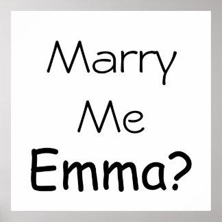 ¿Cáseme Emma? Impresión enorme Impresiones