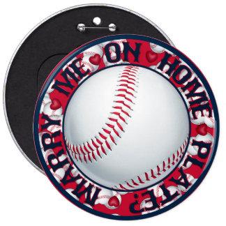 Cáseme en el botón Placa-Redondo casero del Pin Redondo De 6 Pulgadas