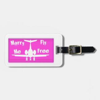 Cáseme etiqueta rosada de la mosca y blanca libre