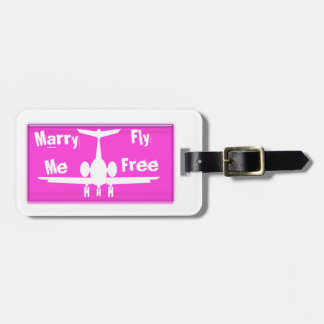 Cáseme etiqueta rosada de la mosca y blanca libre  etiqueta de maleta
