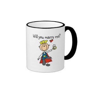 Cáseme las camisetas y los regalos de la oferta de taza de café