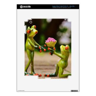 Cáseme las ranas divertidas lindas iPad 3 pegatinas skins