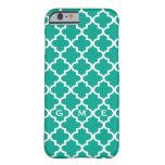 caseMoroccan emerald green tile design 3 monogramc iPhone 6 Case
