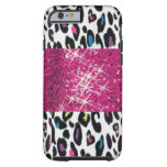 casePersonalized SPARKLE Pink and Cheetah Backgrou iPhone 6 Case