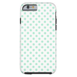 casePolka Dots - Magic Mint on Whitecase iPhone 6 Case