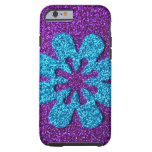 casePurple & Blue Glitter Retro Flowercase iPhone 6 Case