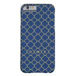 caseQuatrefoil clover pattern navy yellow 3 monogr iPhone 6 Case
