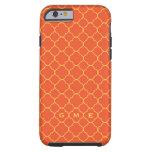 caseQuatrefoil clover pattern orange yellow 3 mono iPhone 6 Case