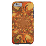 caseRed green yellow Cool Retro Vintage flowers de iPhone 6 Case