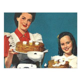 Casero retro del libro de cocina del kitsch 50s de postales