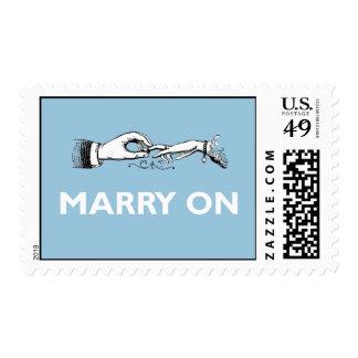 Cásese en sello del boda