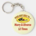 Cásese y divorcíese llaveros