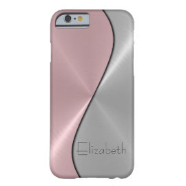 caseSilver and Pink Stainless Steel Metalcase iPhone 6 Case