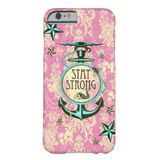 caseStay strong nautical anchor art in retro style iPhone 6 Case