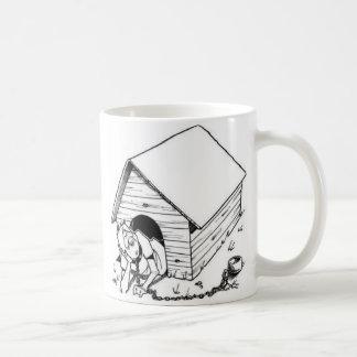 caseta de perro taza