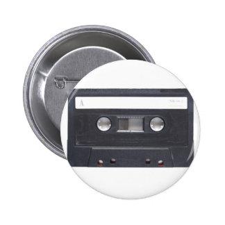 casete audio de la cinta magnética pins
