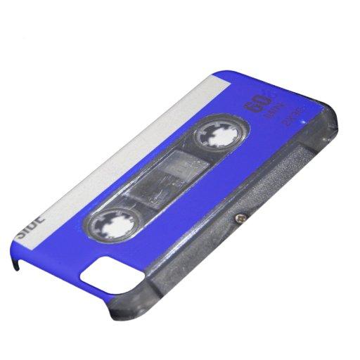 Casete azul de la etiqueta de los años 80 del vint