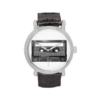 Casete blanco y negro de Houndstooth Reloj De Mano