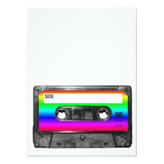 Casete colorido del arco iris invitación 13,9 x 19,0 cm