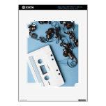 Casete con la cinta enredada iPad 3 skin