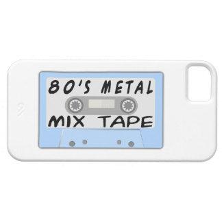 casete de cinta de la mezcla del metal 80s funda para iPhone SE/5/5s