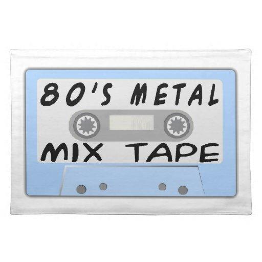 casete de cinta de la mezcla del metal 80s mantel