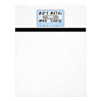 casete de cinta de la mezcla del metal 80s membrete