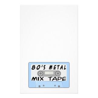 casete de cinta de la mezcla del metal 80s  papeleria de diseño