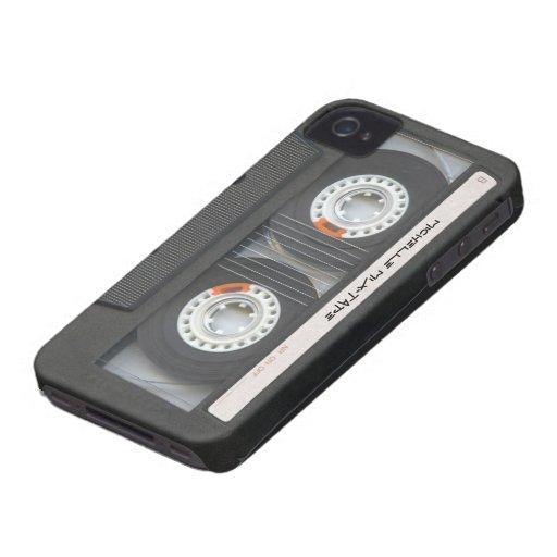Casete de encargo Mixtape iPhone 4 Case-Mate Carcasa